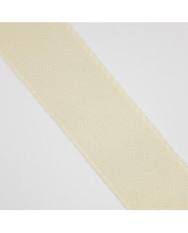 Cinta entredos panamá punto de cruz beige 3 cms. Ideal para bordar en prendas de bebé como toallas, cojines, sábanas, canastos,.