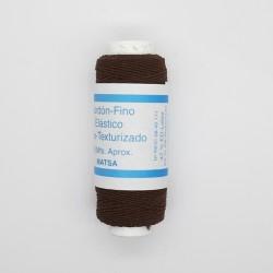 Bobina hilo elástico marron resistente especial para coser a mano o en canilla ideal todo tipo de confección