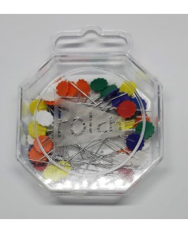 Alfileres cabeza flor colores, especial para coser a máquina, costura y planchado, aplicable a patchwork y quilting