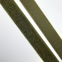 Velcro de  2 cms en color verde kaki para coser. Pieza versátil para múltiples proyectos de costura, labores y manualidades.