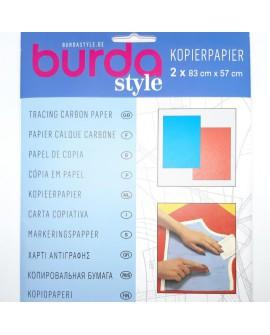Papel de copia burda. Dos colores azul y rojo . Especial para patrones, muy utilizado en corte y confección.