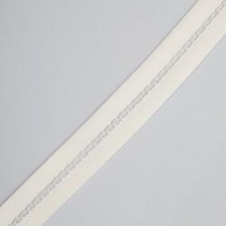 Cinta de vainica organza de color marfil de 1,5 cms especial para prendas y complementos de ceremonias