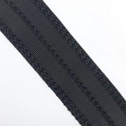 Elástico negro pespunte suave 6 cms