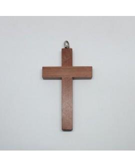 Cruz clásica de madera. Especial para primera comunión, cofradías y actos religiosos. De diseño sencillo y tradicional