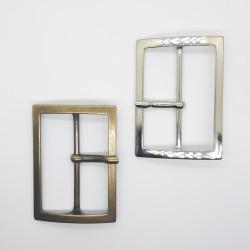 Hebilla metálica rectangular de 6 cms para prendas y complementos