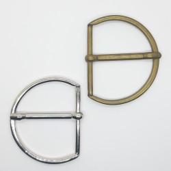 Hebilla metálica semi circular 5 cms para prendas y complementos