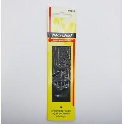 Sobre de 5 agujas largas finas de 10 cms