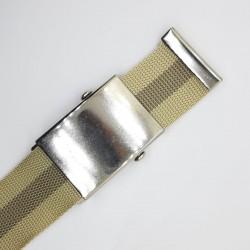 Hebilla cierre americano de 4 cms plata para cinturón