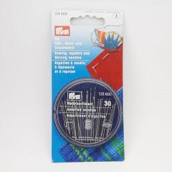 Blíster de 30 agujas surtidas Prym. Especiales para coser, bordar y zurcir.