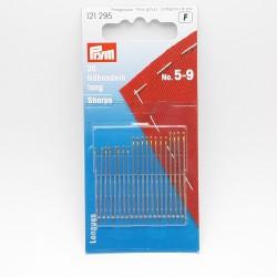 Agujas surtidas para coser Prym Nº 5-9. Para patchwork y costuras que vayan hechas a mano.