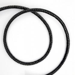 Cordón impiel con pespunte negro de 5 mm. Cordón suave y flexible. Especial para gargantillas, llaveros y pulseras