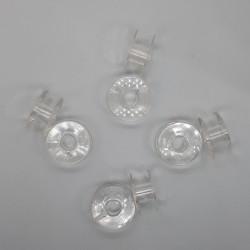 Canillas de plástico de 20 mm. Accesorio especial para máquinas de coser.