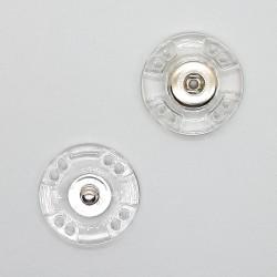 Broche cierre de plástico transparente a presión.