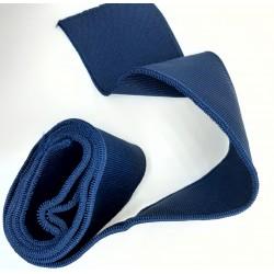 Cinta elástica patente fina azul marino.