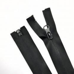 Cremallera impermeable malla 5 separador de 75 cms y color negro. Ideal para chaquetas, abrigos y cazadoras de nieve y frío.