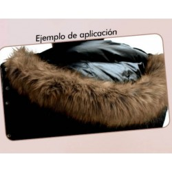 Tira de pelo para gorros y capuchas de 70 cms. Adorno elegante y moderno para decorar tus chaquetas, abrigos, sudaderas,..