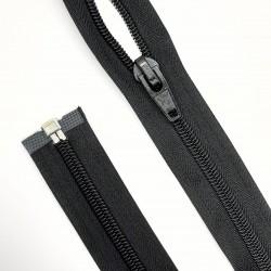 Cremallera malla 8 ancha separador espiral 75 cms de color negro. Ideal para chaquetas, cazadoras, anorak, motero y deportivo.