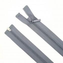 Cremallera separador fina malla 3 de color gris. Especial para prendas ligeras, deportivas como maillot y ciclista,..