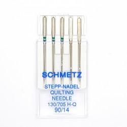 Aguja máquina para pespuntear Schmetz. Aguja especial para patchwork y quilting de talón plano Nº90
