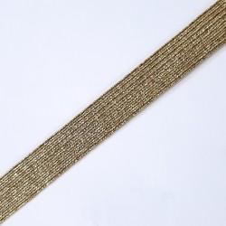 Elástico 14 mm metalizado