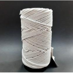 Cordón para técnica macramé de 2 mm y color blanco. Cuerda versátil para múltiples proyectos decorativos.