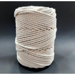 Cordón especial para técnica macramé de 3 mm y color crudo. Cuerda para infinidad de proyectos decorativos.
