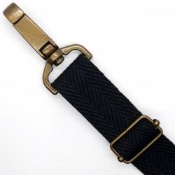 Cinta espiga rígida de color negra especial mochilas