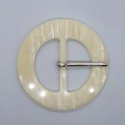 Hebilla acrílica 4 cms color crema