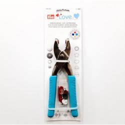Tenaza Prym Love especial para remachar y perforar. Herramienta para poner snaps, botones a presión, remaches y ojetes.