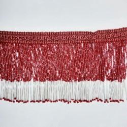 Fleco rojo y plata pedrería cristal strass 10 cms