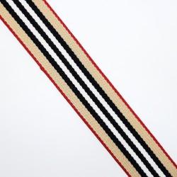 Cinta algodón rayas Burberrys 2,5 cms