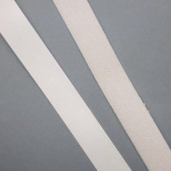Velcro blanco macho y hembra fino de 20 mm cosido