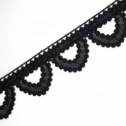 Encaje guipur negro 4,5 cms
