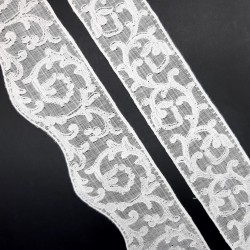 Entredos y bordado muselina inglesa marfil.