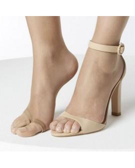 Panty Janira color desert. Medias especiales porque dejan los dedos al descubierto. Ideal para sandalias.