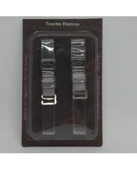 Tirante especial silicona elástico transparente de 1 cms. Accesorios novedoso para lucir mejor tus prendas