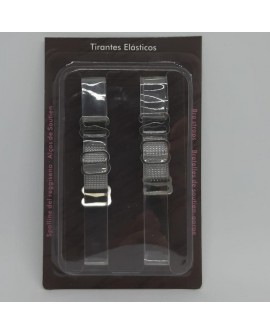 Tirante silicona elástico transparente de 1 cm.
