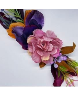 Aplique flores secas multicolor decorativo. Adorno elegante y distinguido, para dar a tus prendas y complementos un toque único.
