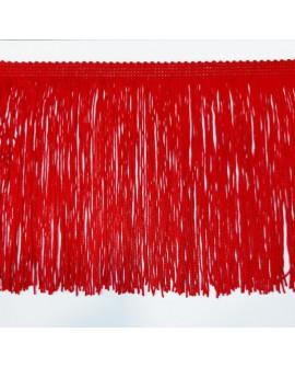 Fleco cuquillo de 30 cms de color rojo. Adorno clásico decorativo, especial para trajes de flamenca, prendas y complementos.
