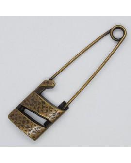Imperdible clásico de color oro viejo broche decorativo especial para prendas y complementos