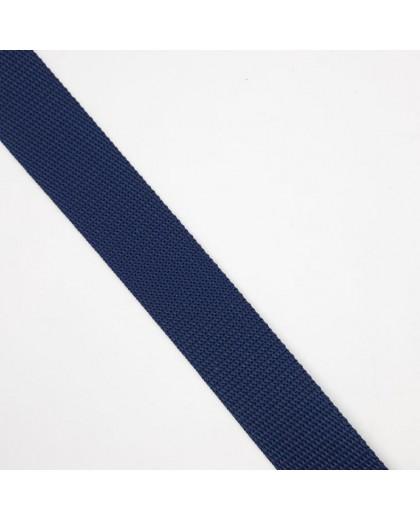 Cinta poliéster de color azul marino. Especial para mochilas, de material resistente y duradero.