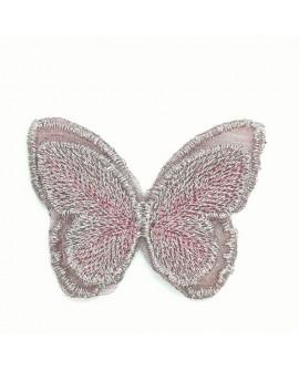 Aplique mariposa brillo decorativo rosa