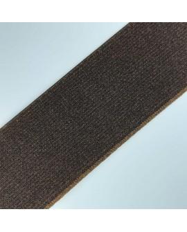 Cinta elástico ancha de color marrón,  fuerte y resistente.