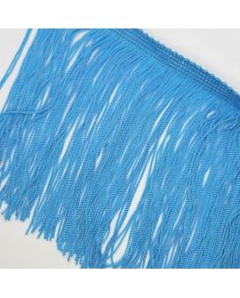 Fleco cuquillo de 15 cms de color turquesa. Adorno clásico decorativo, especial prendas y complementos.
