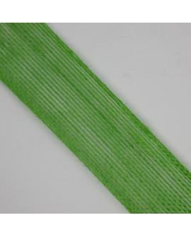 Cinta de yute de color verde de 4 cms. Tejido de saco, especial para decorar complementos, accesorios, regalos, manualidades,..