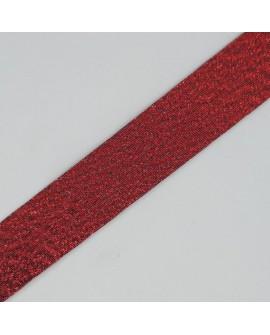Bies metalizada brillante de color rojo de 1,8 cms. Cinta decorativa para embellecer prendas y complementos. Ideal pantalones.