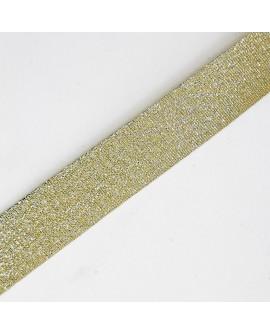 Cinta bies metalizada oro viejo 3 cms decorativa