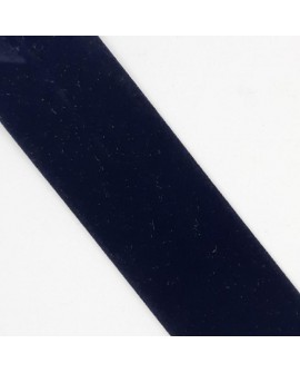 Cinta bies terciopelo azul marino oscuro de 3 cms color vellut. Especial para remate y acabados en prendas y complementos.