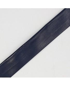 Cinta bies piel 1,8 cms azul marino oscuro